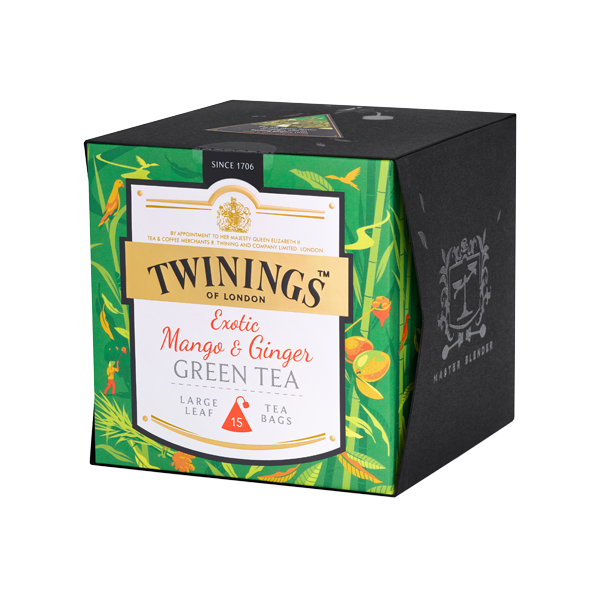 Twinings Exotic Mango & Ginger Green Tea Platinum Tee Grüntee