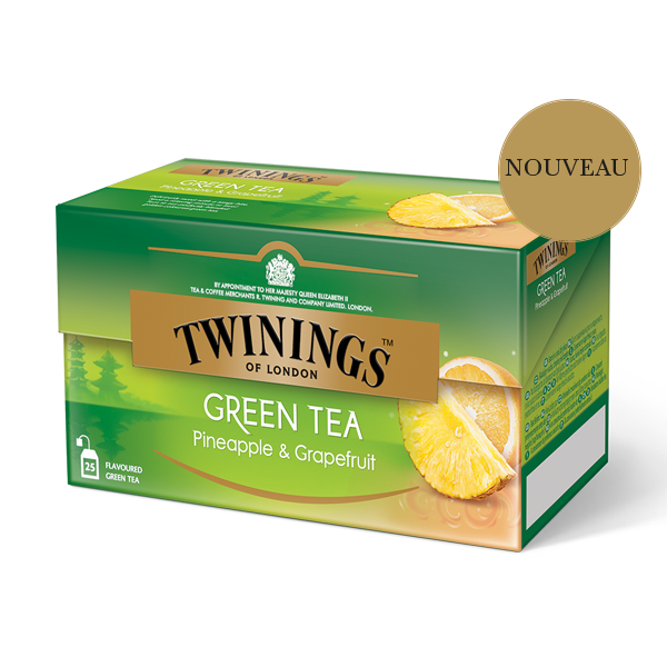 Twinings Green Tea Pineapple & Grapefruit thé vert