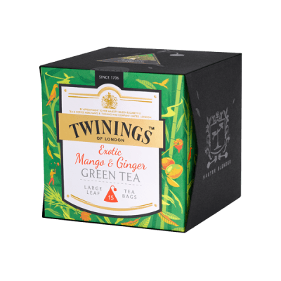Twinings Exotic Mango Ginger Green Tea, Platinum Thé