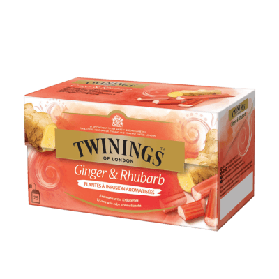 Twinings Gingembre & Rhubarbe Tisane thé