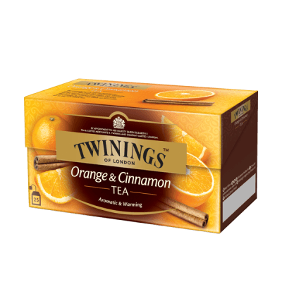 Twinings Orange & Cinnamon Black Tea, thé noir