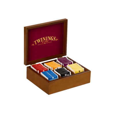 Twinings Holzbox mit 6 Schwarztee